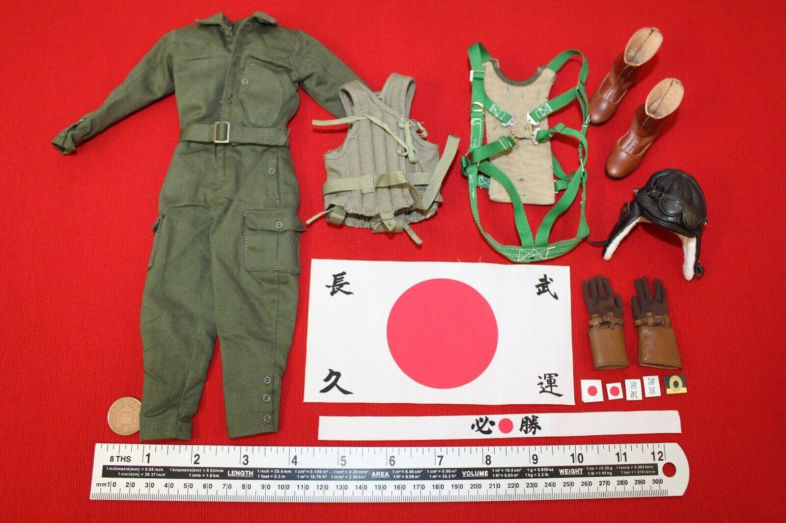 3R DID Dragon In Dreams 1 6TH échelle WW2 Bleu Marine JAPANESE Pilote tenue Miyazawa