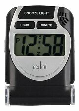 Acctim 13253 Smartlite Travel LCD Alarm Clock in Black (our ref 5R)