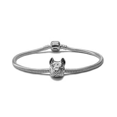 Cropped For European Style Charm Bracelets Sterling Silver Pit Bull Charm