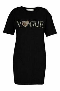 Ladies-Vogue-Leopard-Print-Oversized-T-Shirt-Dress-Short-Sleeve-Tunic-Baggy-Top