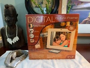 10x8-Inch-Digital-Photo-Frame-BRAND-NEW-Works-Great-COMPLETE-Remote-Manual-AC