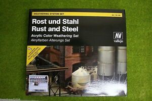 Details about Vallejo Weathering System for RUST & STEEL EFFECTS 70150  Acrylic Weather set