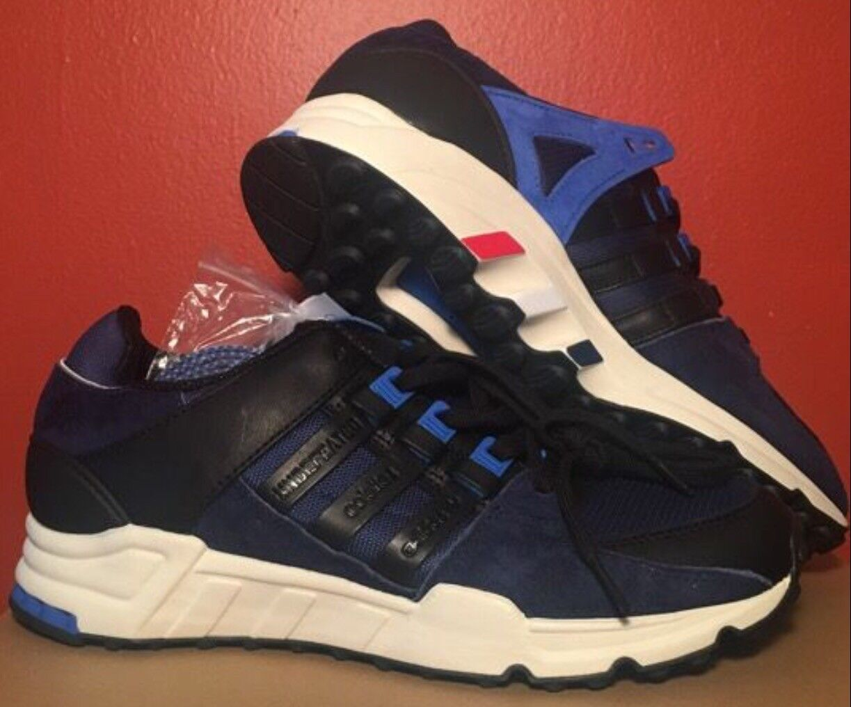 Adidas x Colette x Undefeated x EQT Support SE Sneakers sz 9.5 bluee Black CP9615