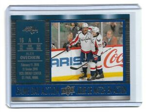 2016-17 UPPER DECK TIM HORTONS GAME DAY ACTION #GDA14 ALEX OVECHKIN UD CAPITALS
