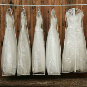 Details About Large Bridal Gown Wedding Dress Garment Bag Cover Dustproof Storage Clear Modern
