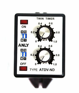 1pc industrial twin timer atdv nd 1m 10h ac110 220v anly taiwan ebay