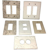 Stone Electric Cover Decorative Plates Plain Style Noce