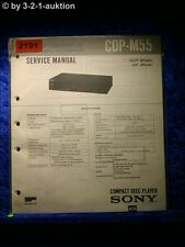 Sony Service Manual CDP M55 CD Player (#2191)