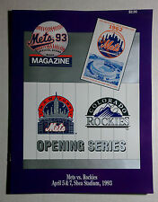 1993 NY METS VS ROCKIES OFFICIAL SCOREBOOK PROGRAM MAGAZINE BASEBALL MLB