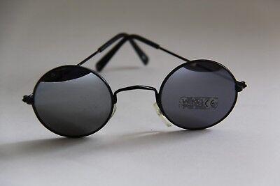 Aspirante Occhiali Da Sole Circa Bicchieri Argento A Specchio, Quadro Nero In Metallo- Imballaggio Di Marca Nominata
