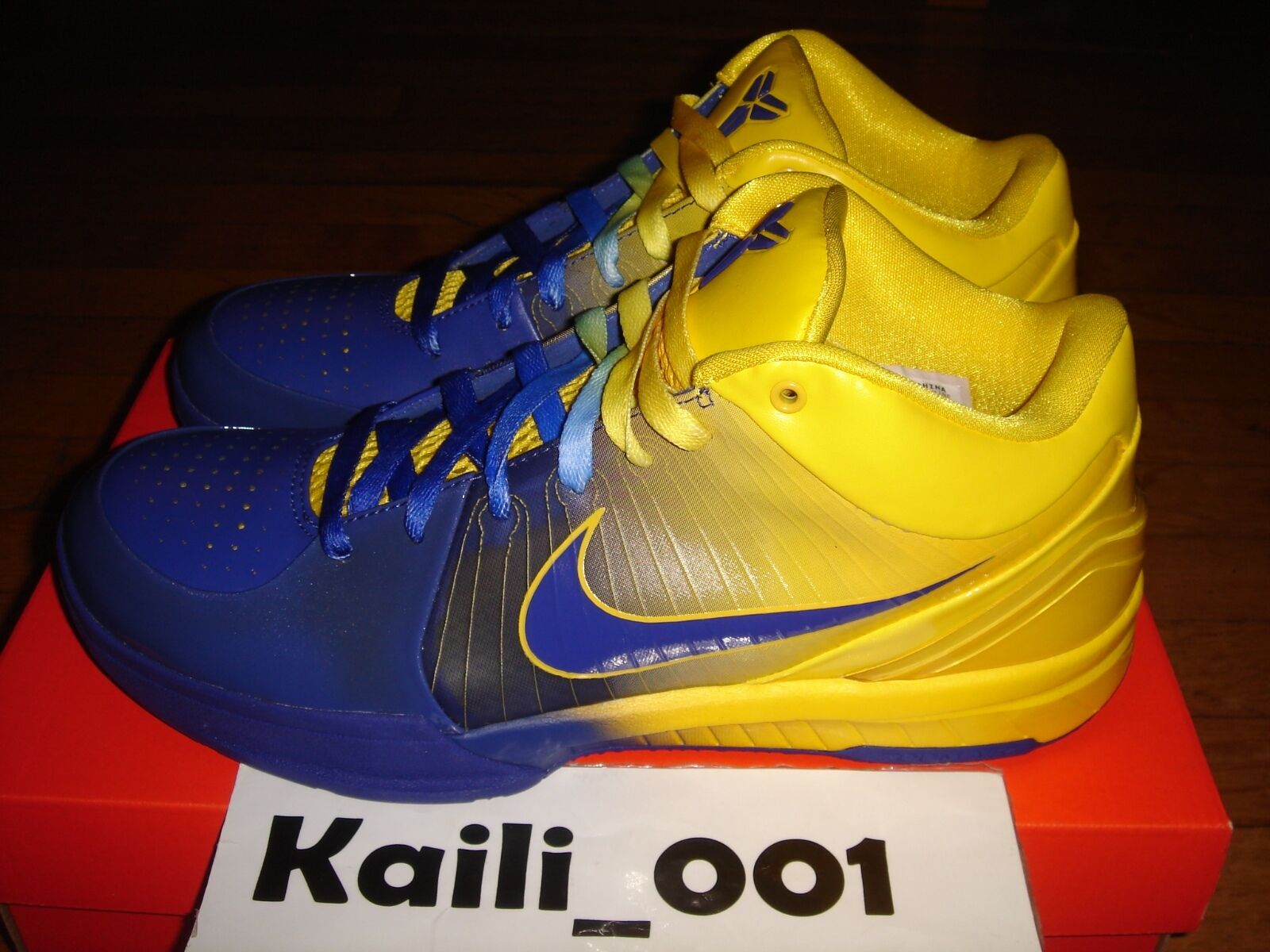 competitive price 89601 6f108 ... Nike Zoom Kobe IV IV IV 4 RINGS Size 10.5 4 RINGS 344335-400 MLK ...