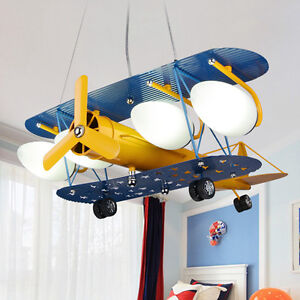 Retro plane pendant light aircraft ceiling lamp children kid room image is loading retro plane pendant light aircraft ceiling lamp children aloadofball Gallery