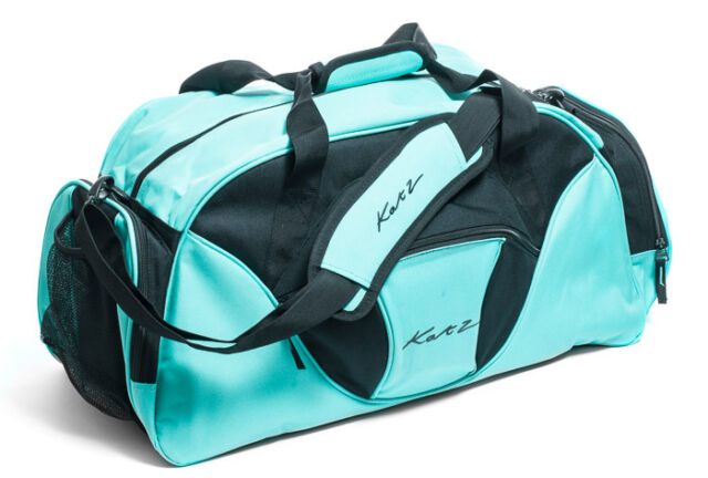 e4bde14e565 Girls Ladies Large Turquoise Dance Ballet Tap Kit Holdall Sports Bag KB74  Katz