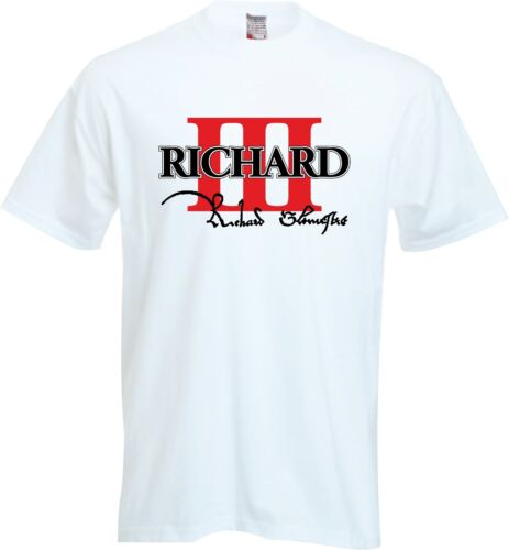 King Richard III troisième 111 3rd 3 RD Homme Tops T-Shirts T-shirts enterrement Leicester
