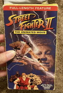1994 Street Fighter Ii The Animated Movie Vhs Tape Video Cassette