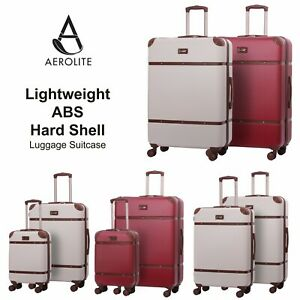 Aerolite-Retro-Vintage-ABS-Hard-Shell-Suitcase-Hand-Luggage-Bag-Sets-4-Wheels