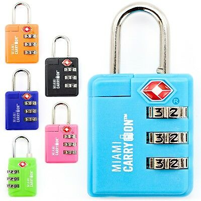 0.9 Inch Wide Black Best TSA Keyed Luggage Lock TSA Approved Padlock