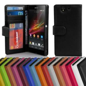 Case for Sony Xperia Z Phone Cover with Card Slots Wallet Book