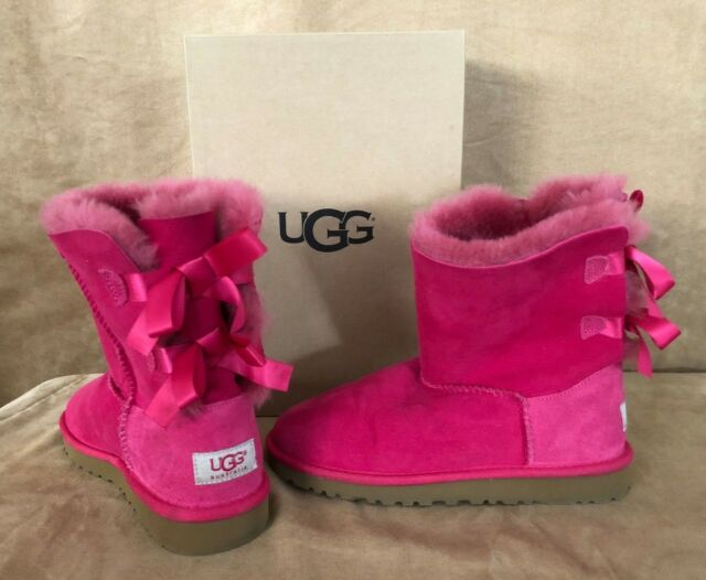 3ad5e3164c3 UGG Womens 5 1/2 Australia Bailey Bow Bloom Boots Twinface 3280K box Girls 4