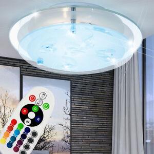Design RGB LED Decken Lampe Kinder Spiel Zimmer Tier Glas Schirm Leuchte DIMMER