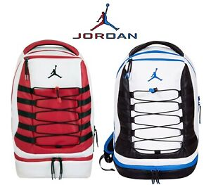 innovative design 24c3f 884ad Details about Air Jordan Retro 10 X Nike Backpack Black White Red Blue  Laptop Bag 9A0037 New