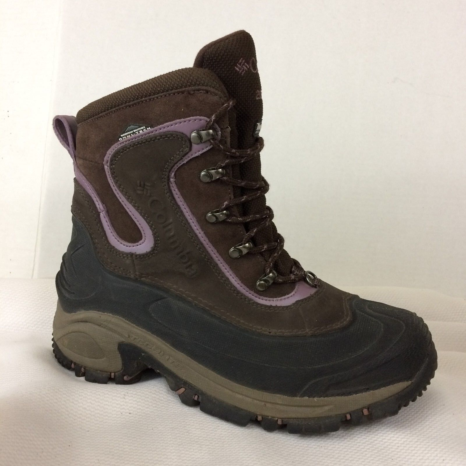 Columbia Womens 9 M Bugaboot Thinsulate Omni-Tech Waterproof BL1365 Boots Brown