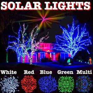 Solar Led Christmas Lights.Details About Solar Fairy Christmas Lights Type 100 M 200 M Led String Lights Garden Patio