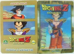 Dragon-Ball-Z-034-Goku-e-Vegeta-034-Giochi-Preziosi-serie-GOLD-n-30-lenticolare