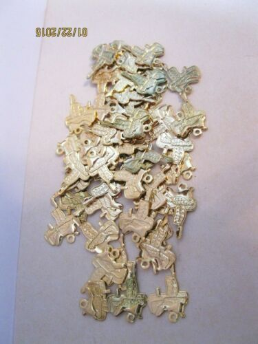 70 LOT Vintage Goldtone Western Saddles for Earrings Charms Necklaces Findings