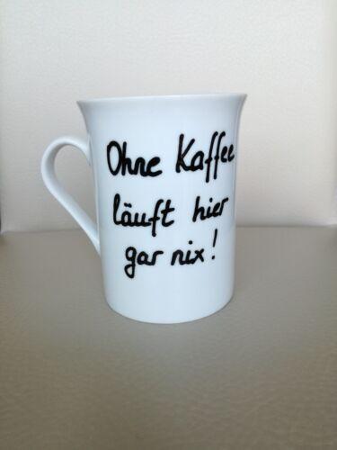 Ohne Kaffee läuft hier nix lustige Tasse mit Spruch Kaffeetasse Tasse witzig