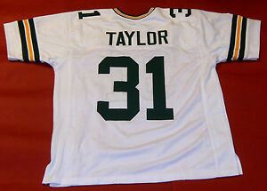 Details about JIM TAYLOR CUSTOM GREEN BAY PACKERS W JERSEY