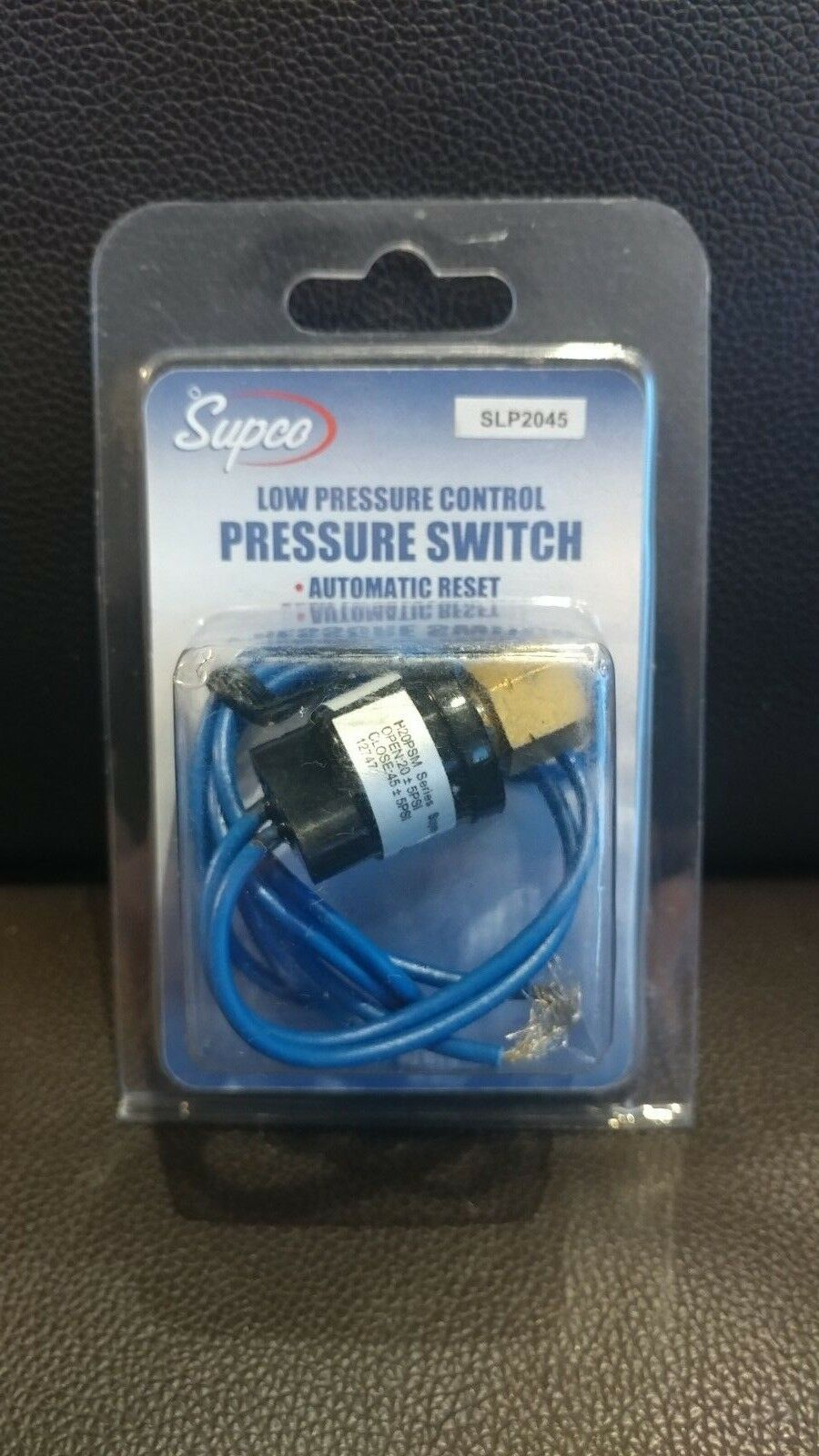 20 Close 45 Low Pressure Control Switch w// Automatic Reset Supco SLP2045 Open