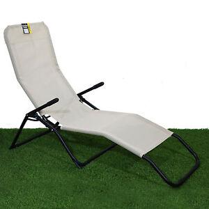 Image Is Loading Rocker Lounger Cream Sun Chair Recliner Outdoor Garden