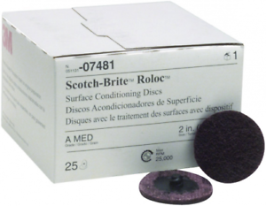 Scotch Brite Roloc 2In corse 07480 Sanding Grinding Disc Pad Coarse Surface