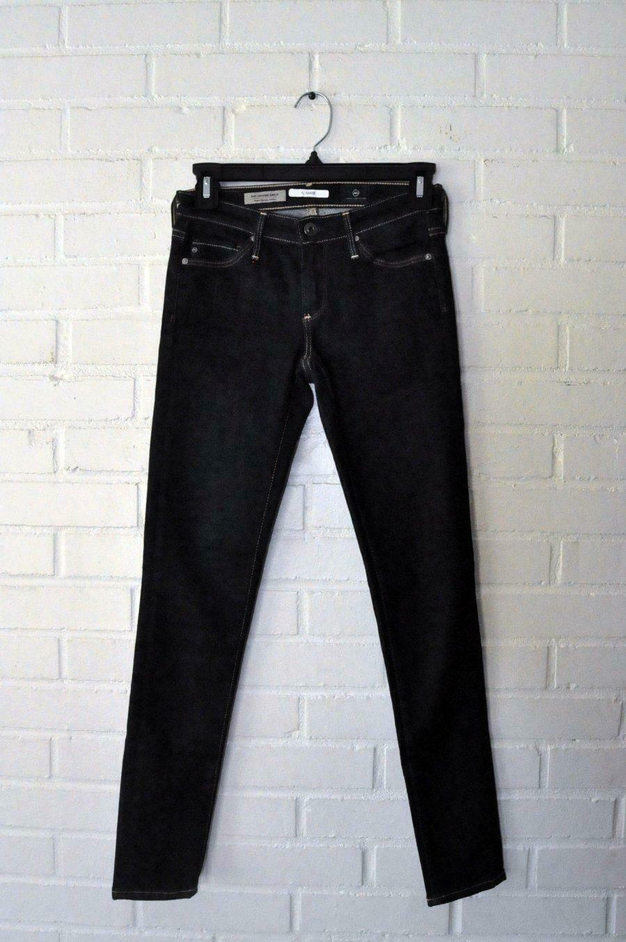 AG ADRIANO goldSCHMIED THE LEGGING ANKLE SUPER SKINNY FIT JEANS in GAL Dark wa