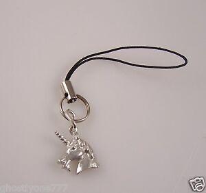 Unicorn-silvertone-cell-phone-or-purse-charm-strap