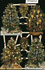 # GLANZBILDER  # EF 7390, 6 geschmückte Weihnachtsbäume, Bogen aus dem Jahr 2013