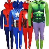 Kids Marvel Comics Novelty Pyjama Set Pjs Pajamas Nightwear Onesie Gift Boys