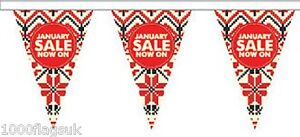 JANUARY SALE Style 1 Triangular Superior Polyester Bunting - 10m with 24 Flags
