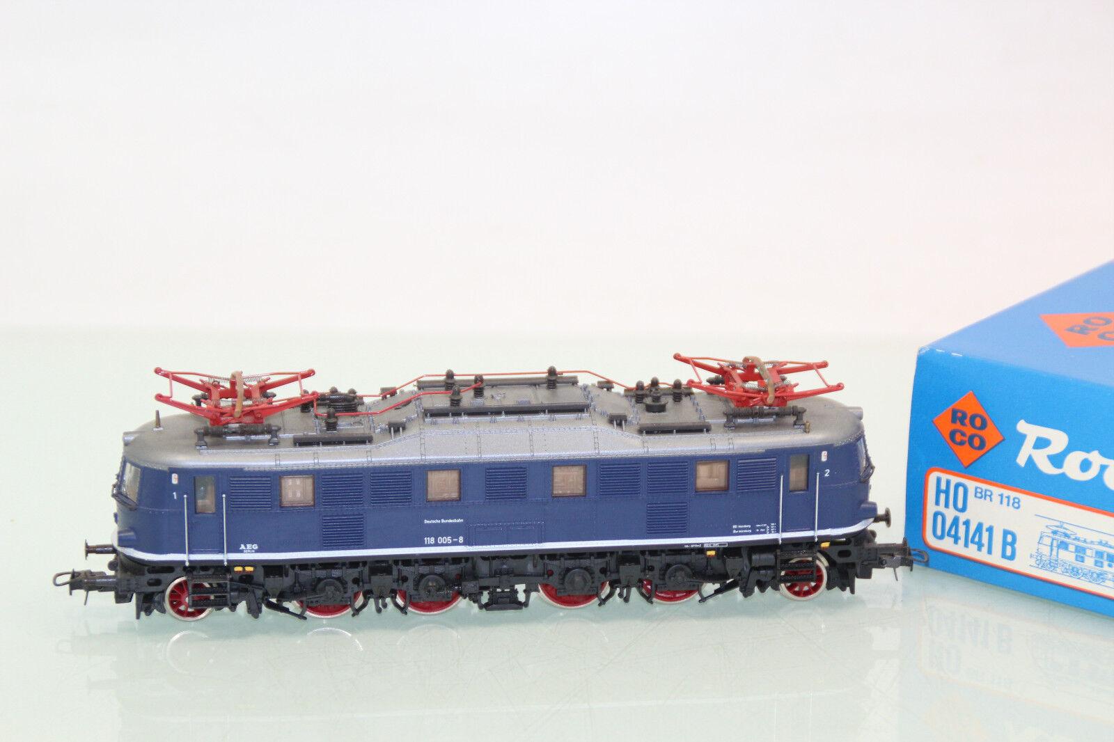 ROCO h0 04141 B e-Lok BR 118 005-8 blu delle DB in OVP  sl1073