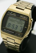 Rare 1977 - Seiko 0138-5009 Quartz LC Dual Chronograph LCD Digital Men's Watch