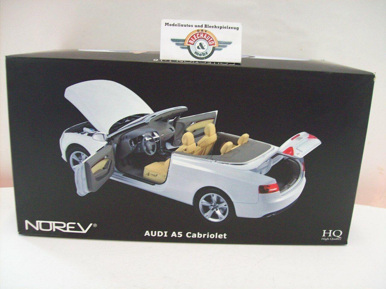 alto descuento Audi a5 (8f) cabriolet, 2009, blanco, norev 1 18, 18, 18, embalaje original  ahorra hasta un 70%