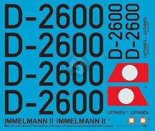 Peddinghaus 1/48 Ju 52/3m Immelmann (& II) Führermaschine Markings D-2600 3099