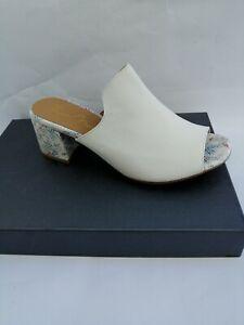 MULES-de-Tiras-Tendencia-Y-Comodo-Zapatos-de-Verano-Mujer-Cuero-Blanco-Nuevas