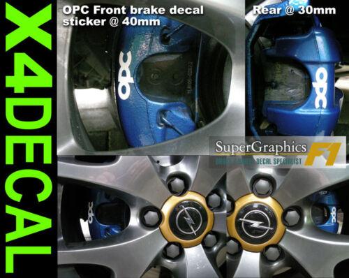 Brake Caliper Decal sticker for Opel Vauxhaul OPC car front 40mm Rear 30m Set