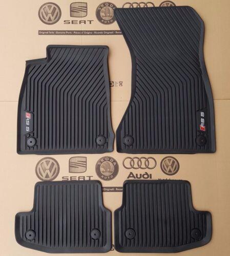Audi a5 8w b9 original rs5 tapices alfombrillas de goma en la parte delantera detrás de goma tapices