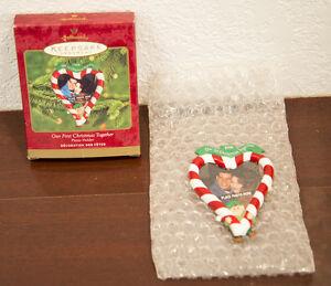 2000 OUR FIRST CHRISTMAS TOGETHER PHOTO HOLDER HALLMARK CHRISTMAS ORNAMENT MIB 15012535365