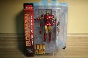 Marvel-Select-Iron-Man-2-Mark-VI-Actionfigur-7-034-Movie-Diamond-Toys-Avengers