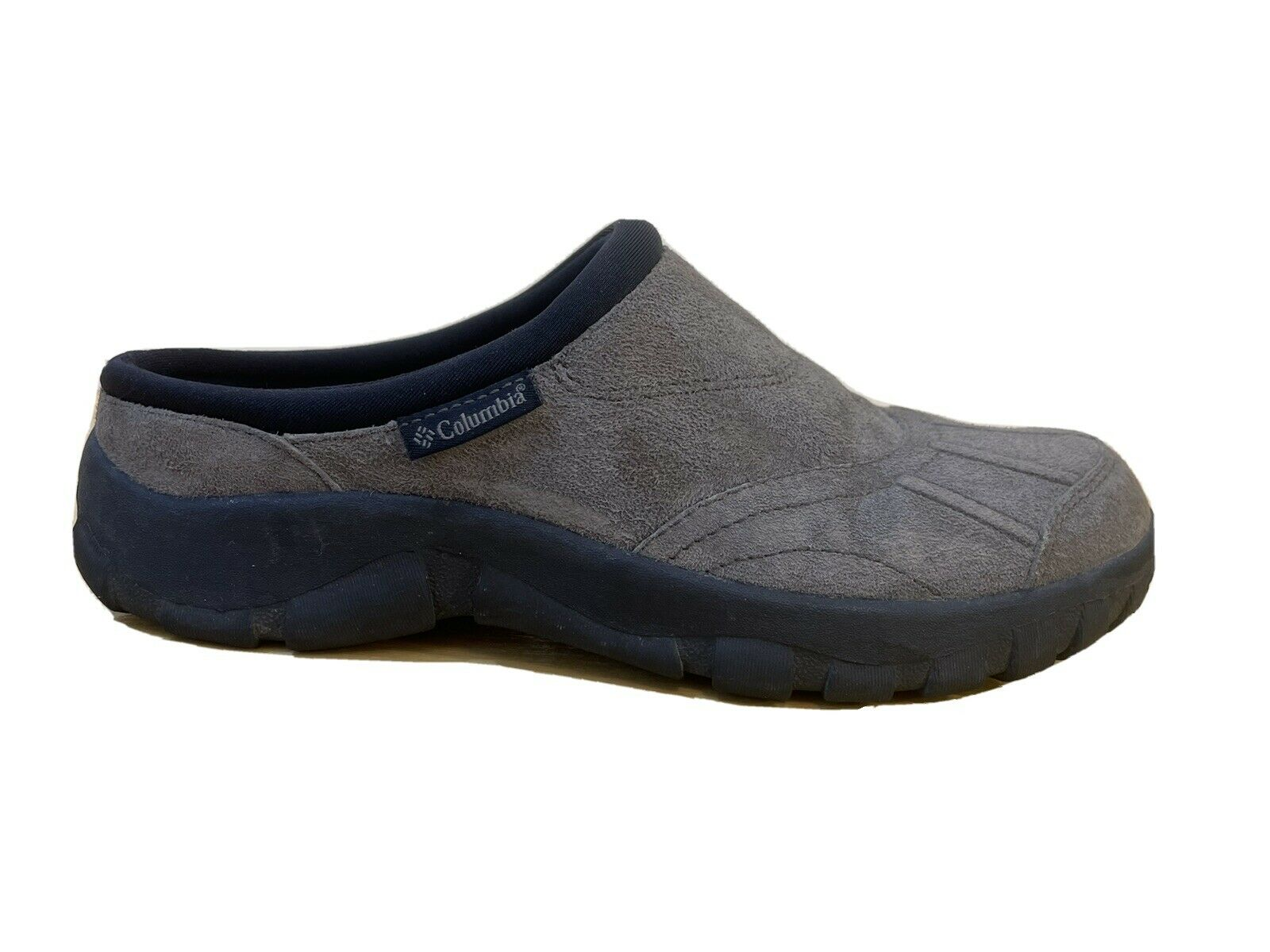 Columbia Womens Johnnie Lowback Clog Slip On Suede Shoe Gray Classic Size 8.5