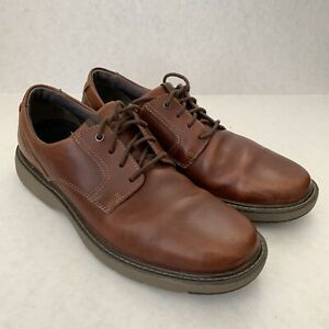 clarks 13291 shoes men's brown leather oxfords size 12m